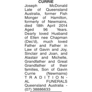 Australian Death Notices Queensland