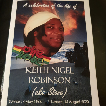 Tribute photo for KEITH NIGEL ROBINSON