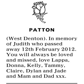 Notice Gallery for WEST DENTON PATTON